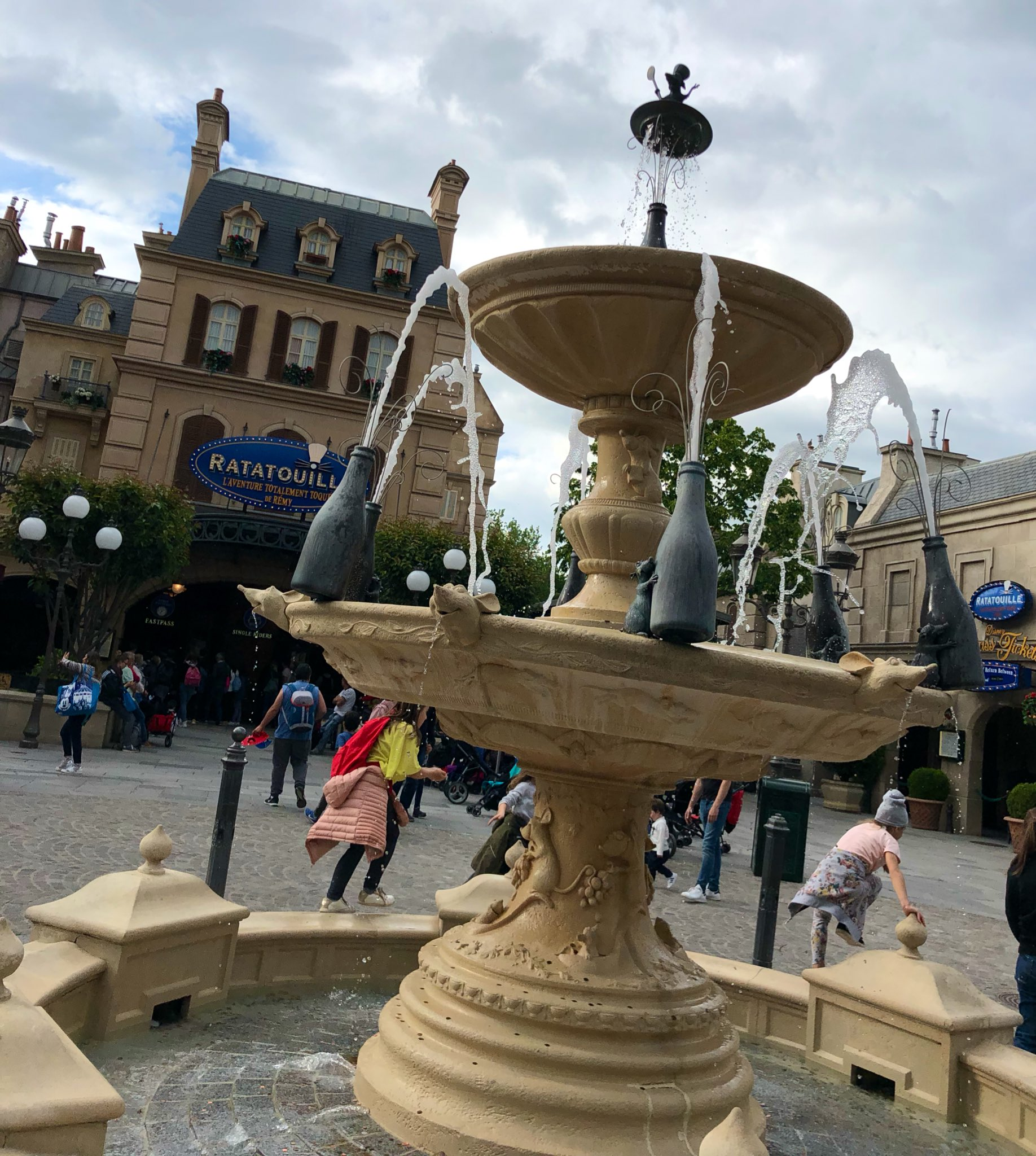 Completed Ratatouille Fountain