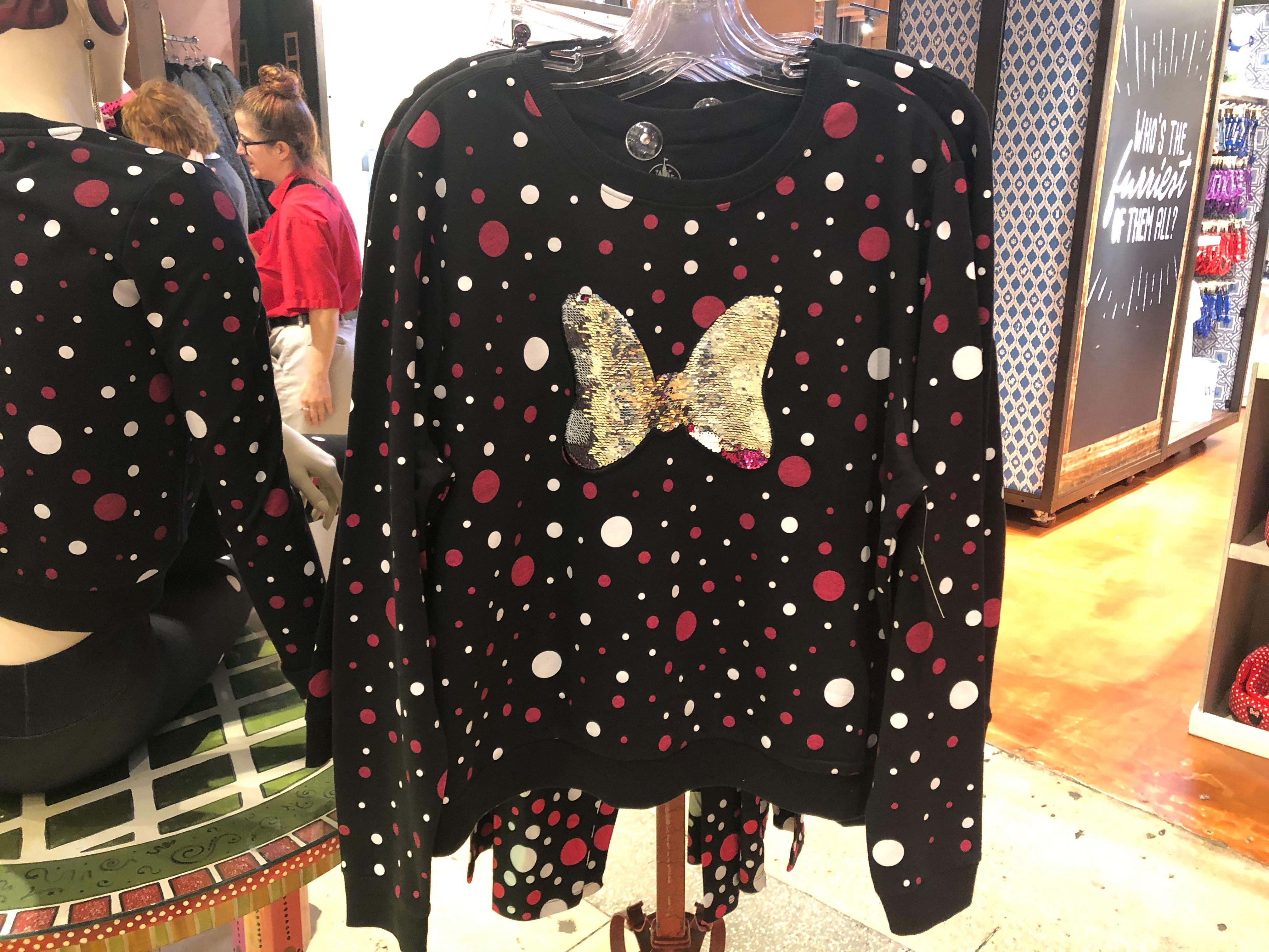Rock The Dots Women's Flip Sequined Long-Sleeved T-Shirt