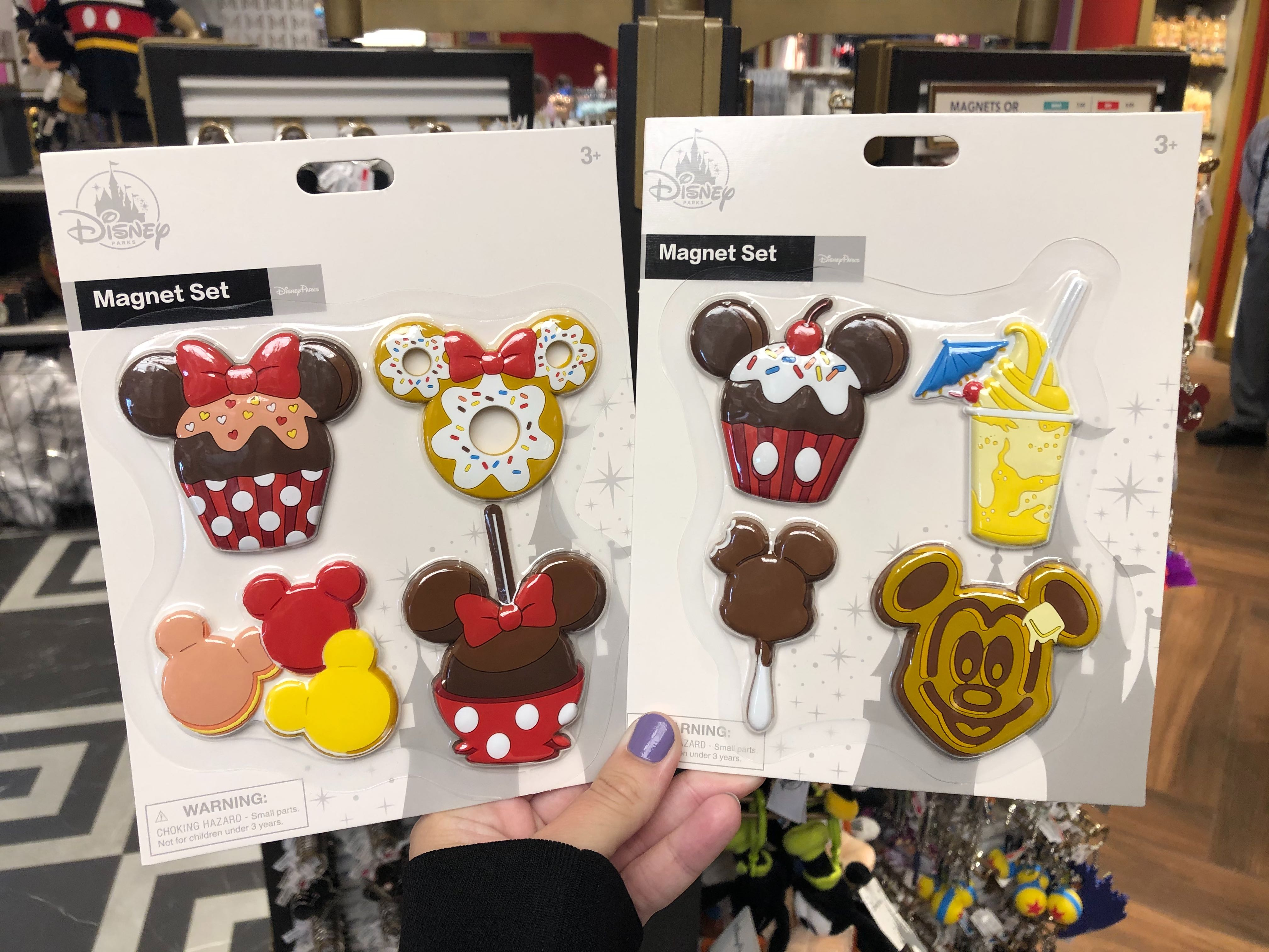 Minnie Mouse and Disney Park Snacks Magnet Sets