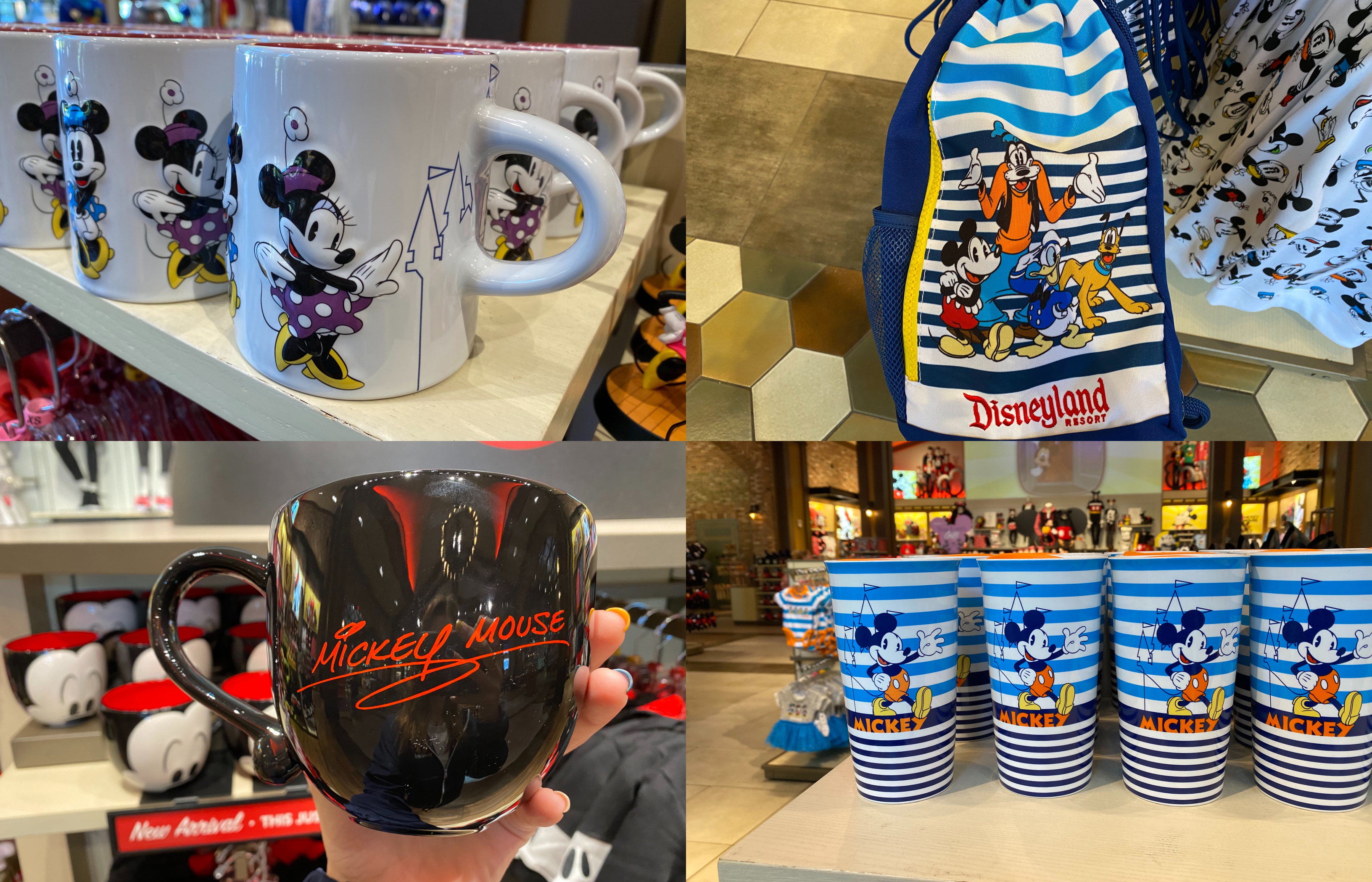mickey and friends merchandise collage