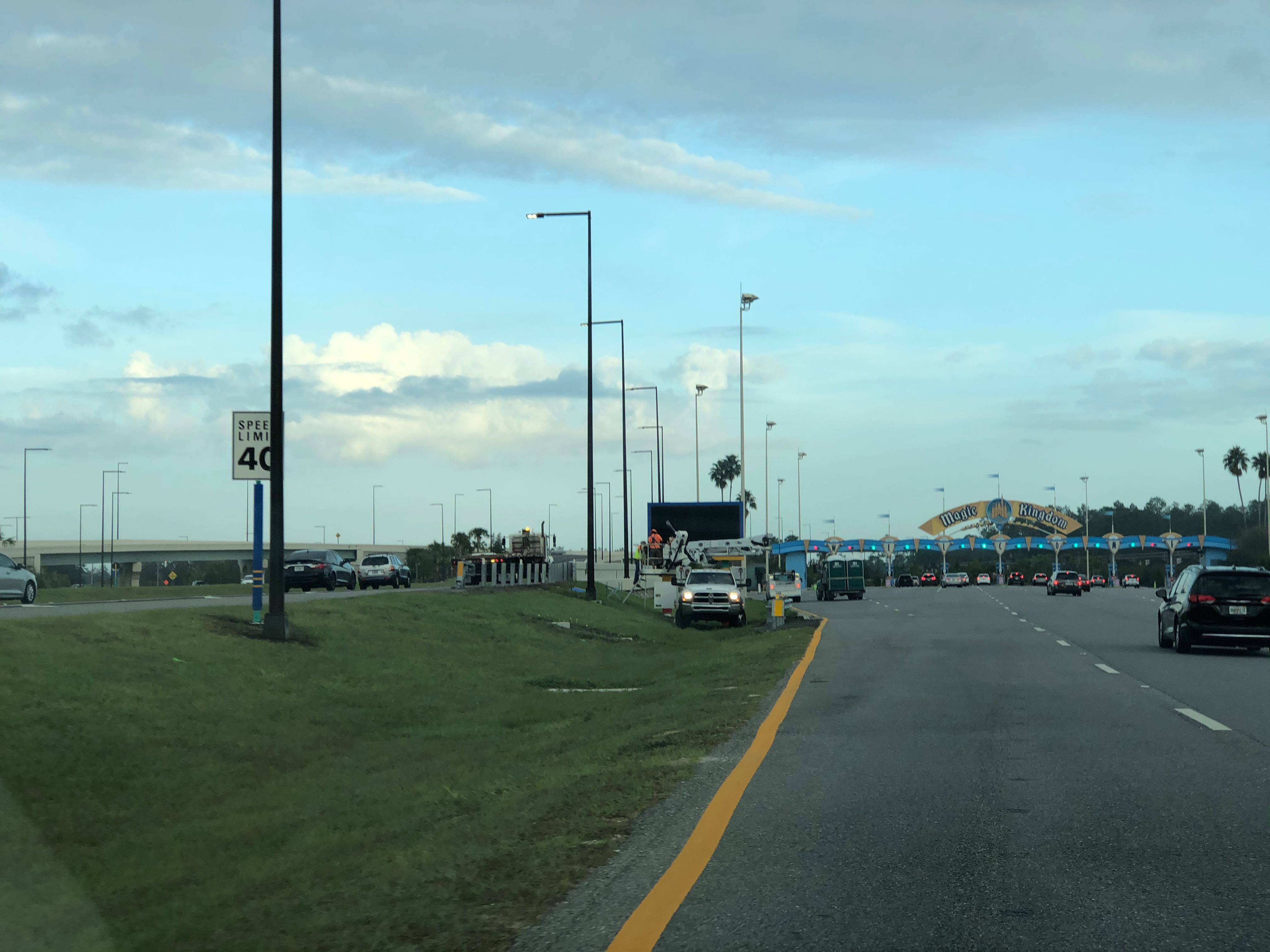 Magic Kingdom Toll Plaza Variable Message Sign to Aid Guests Installed