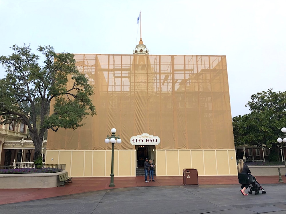 City Hall Covered in Scrim