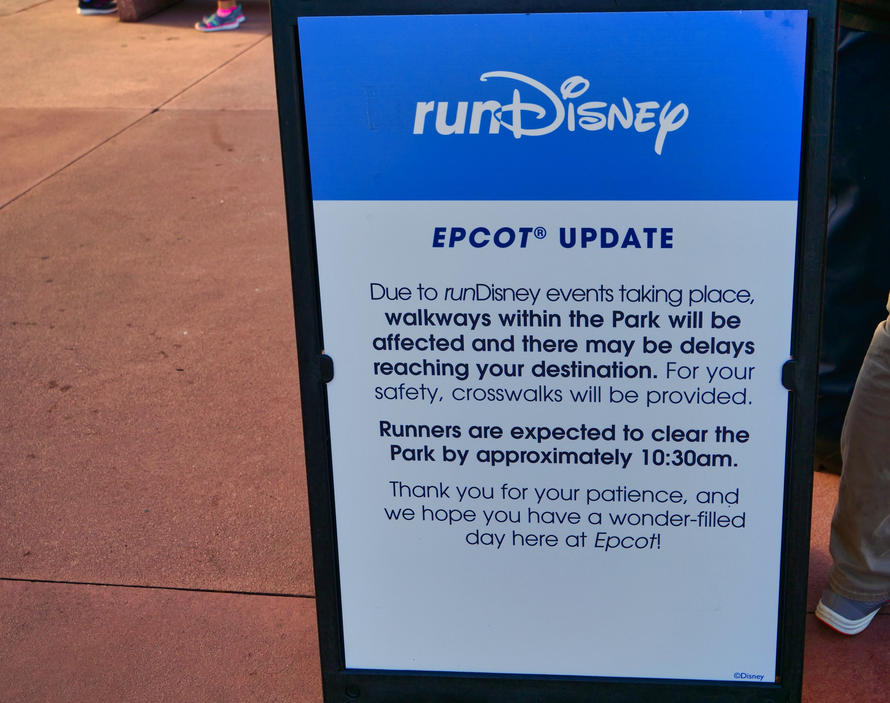 runDisney Sign