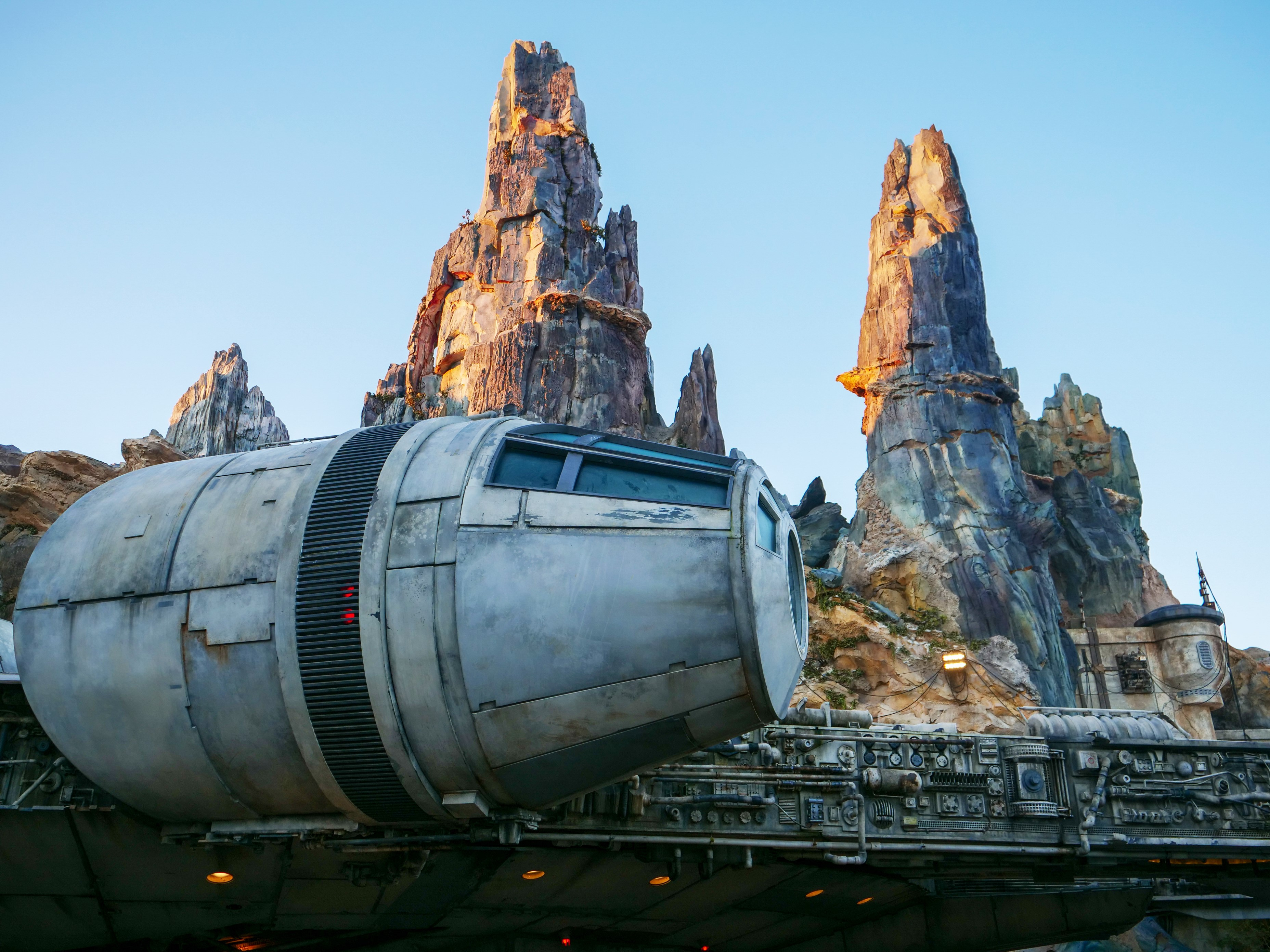 Millennium Falcon in Front of Spires
