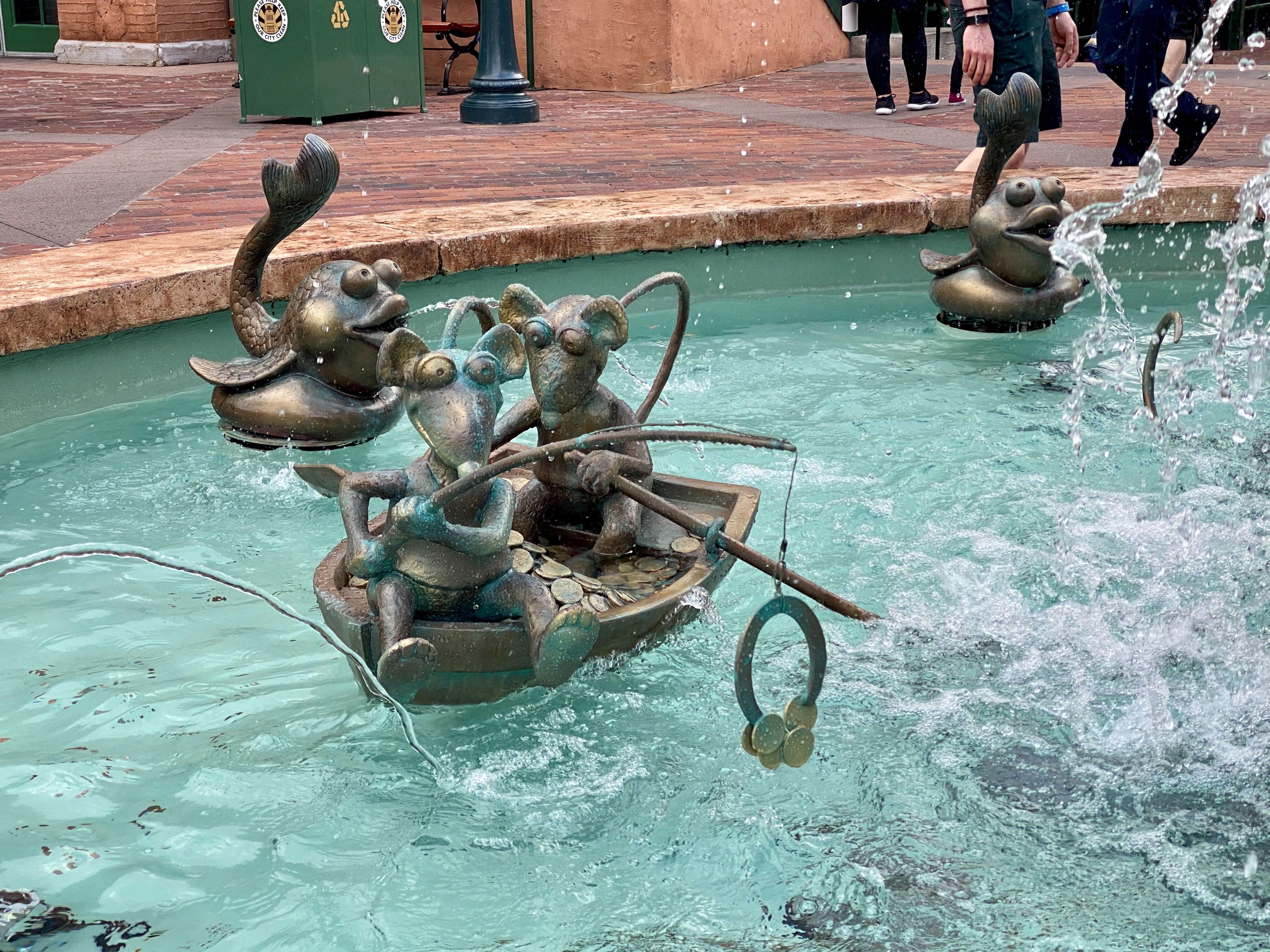 fishing rats muppets fountain