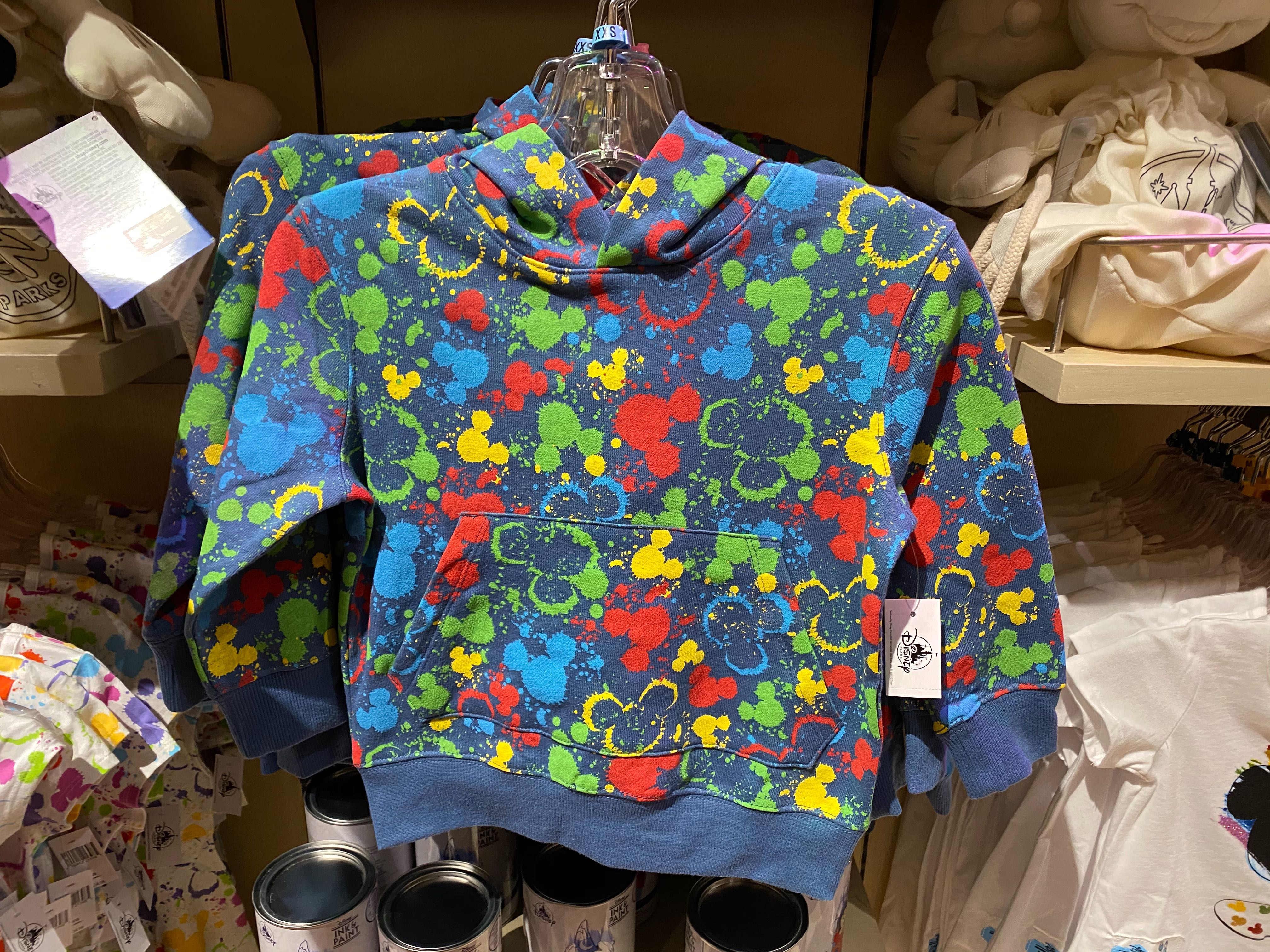 Child Mickey Head Paint Splatter Hoodie - $39.99