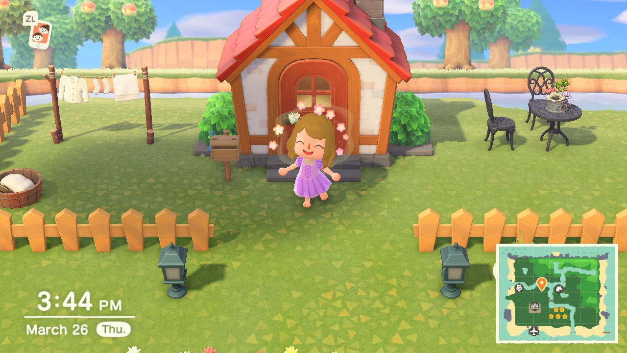Rapunzel dress Animal Crossing