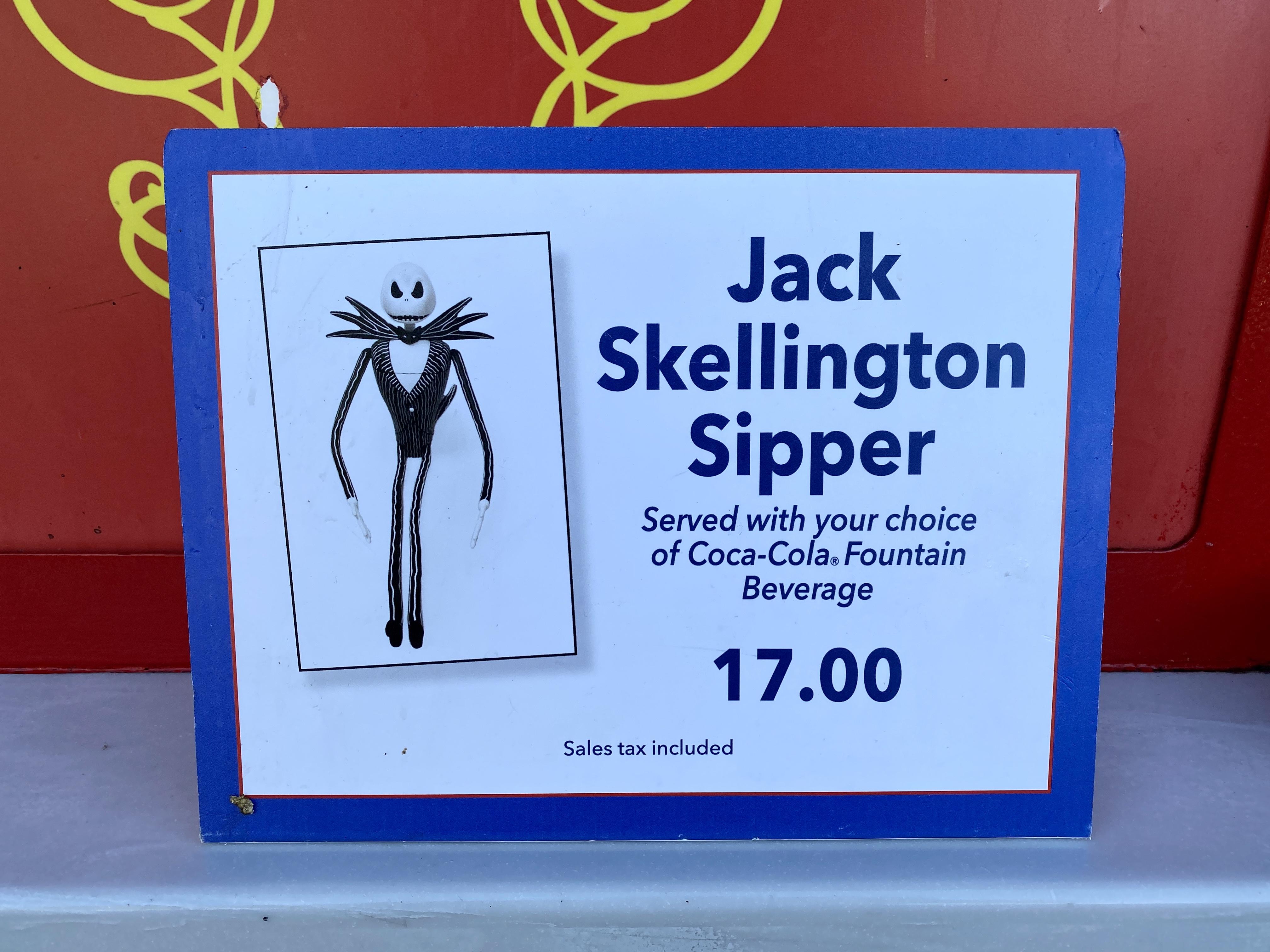 Jack skellington sipper