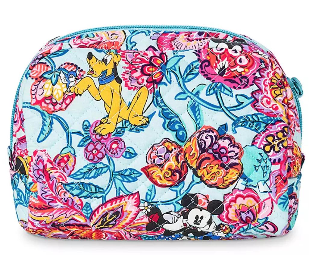 colorful garden vera bradley cosmetic bag