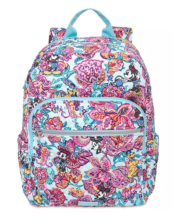 colorful garden vera bradley campus backpack