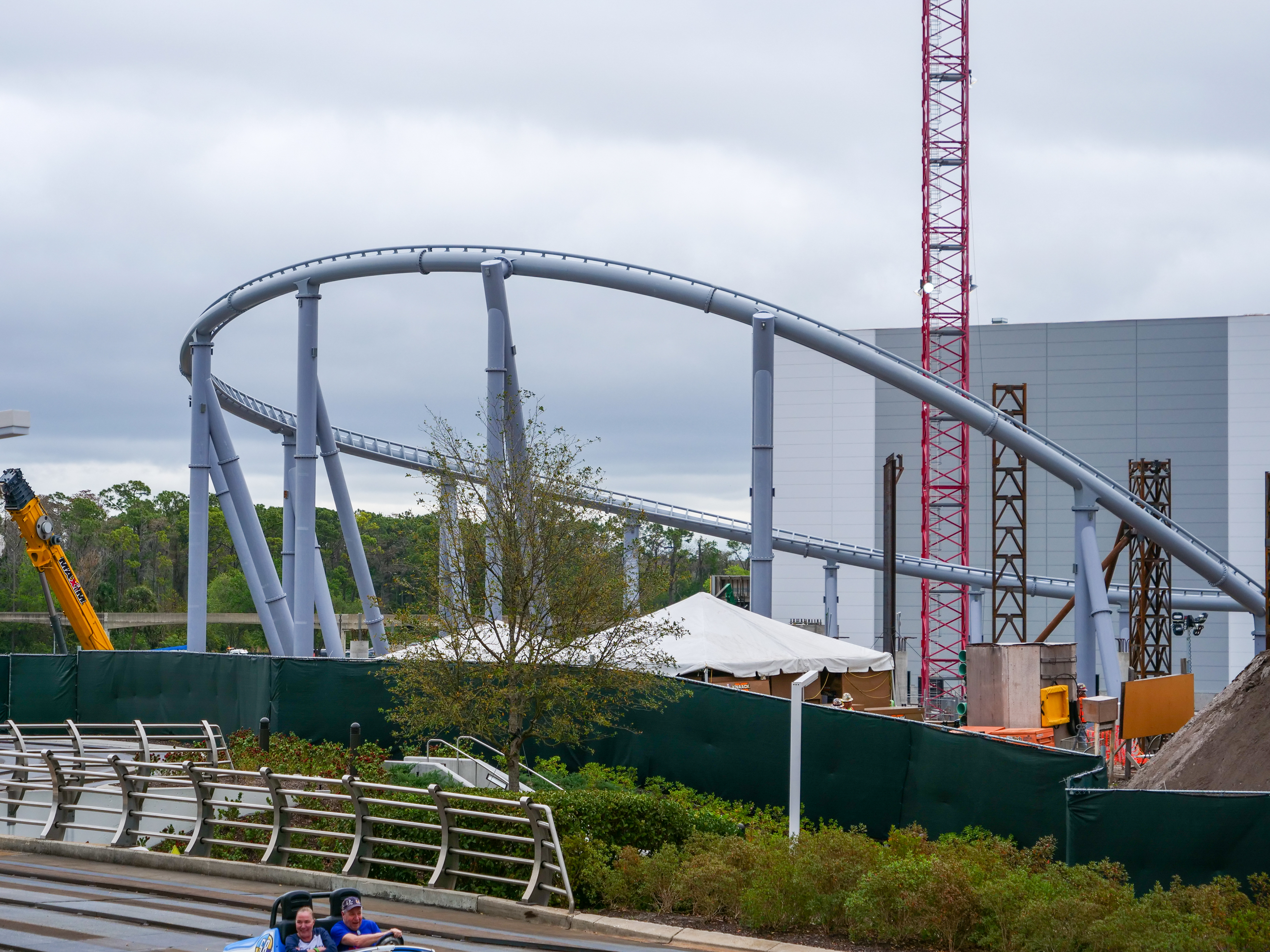 TRON Lightcycle Run Construction