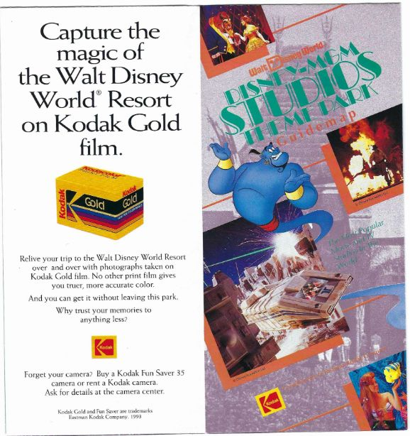 Aladdin Flies Into The Disney Mgm Studios In This Guidemap From 1993 Wdw News Today