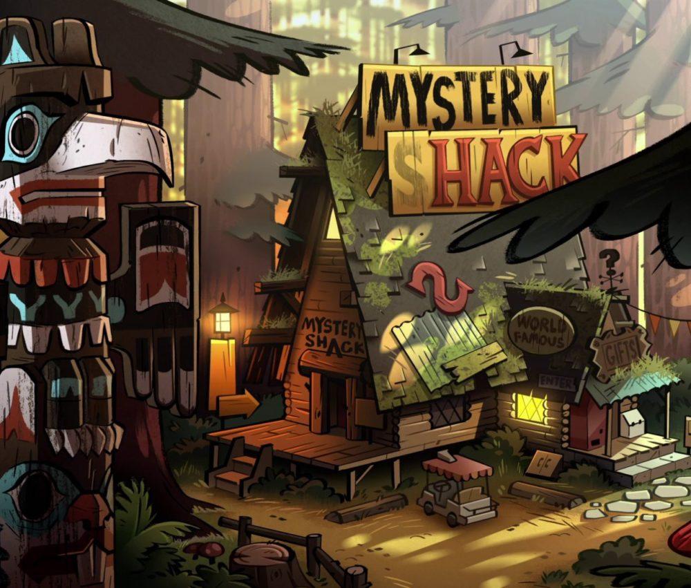 Afbeeldingen van real life Gravity Falls Mystery Shack