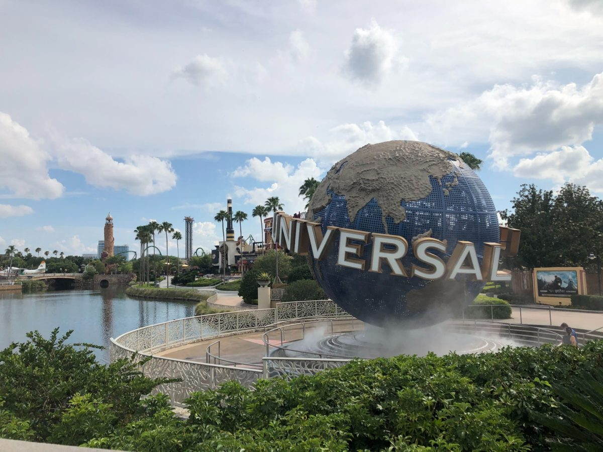 Universal Studios Florida Globe and Islands of Adventure Tower