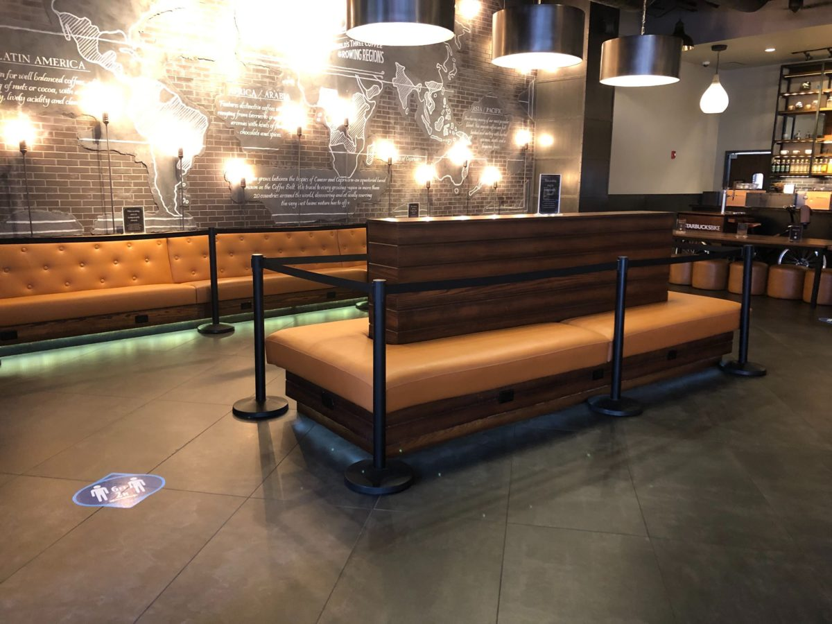 Starbucks CityWalk Seating Roped Off