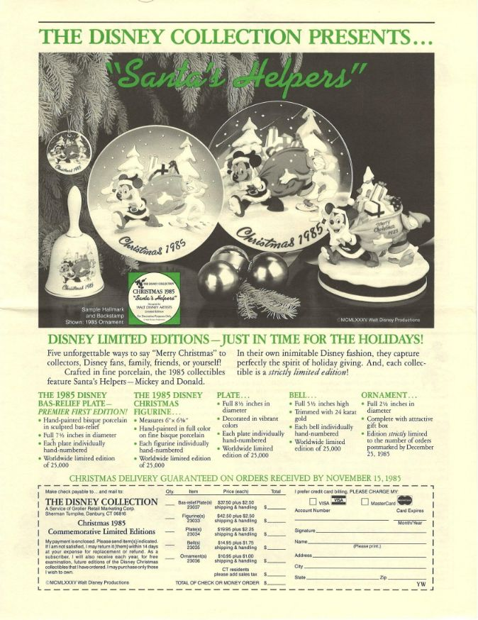 Wonderful 1985 Walt DISNEY World Resort Florida ROCKETTES Main Street Mickeys Party Ad POSTER