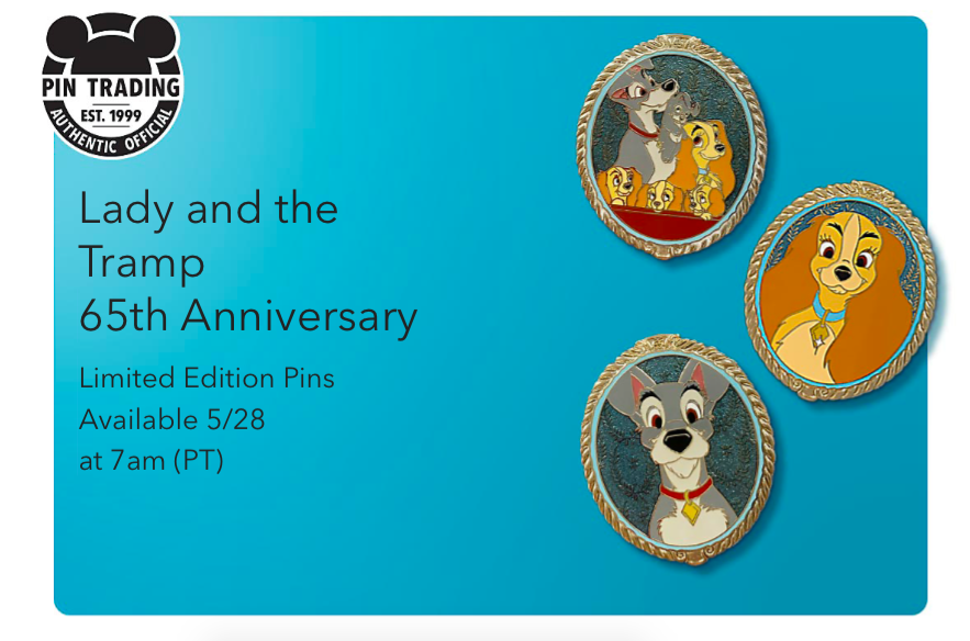 Lady and the tramp pins1