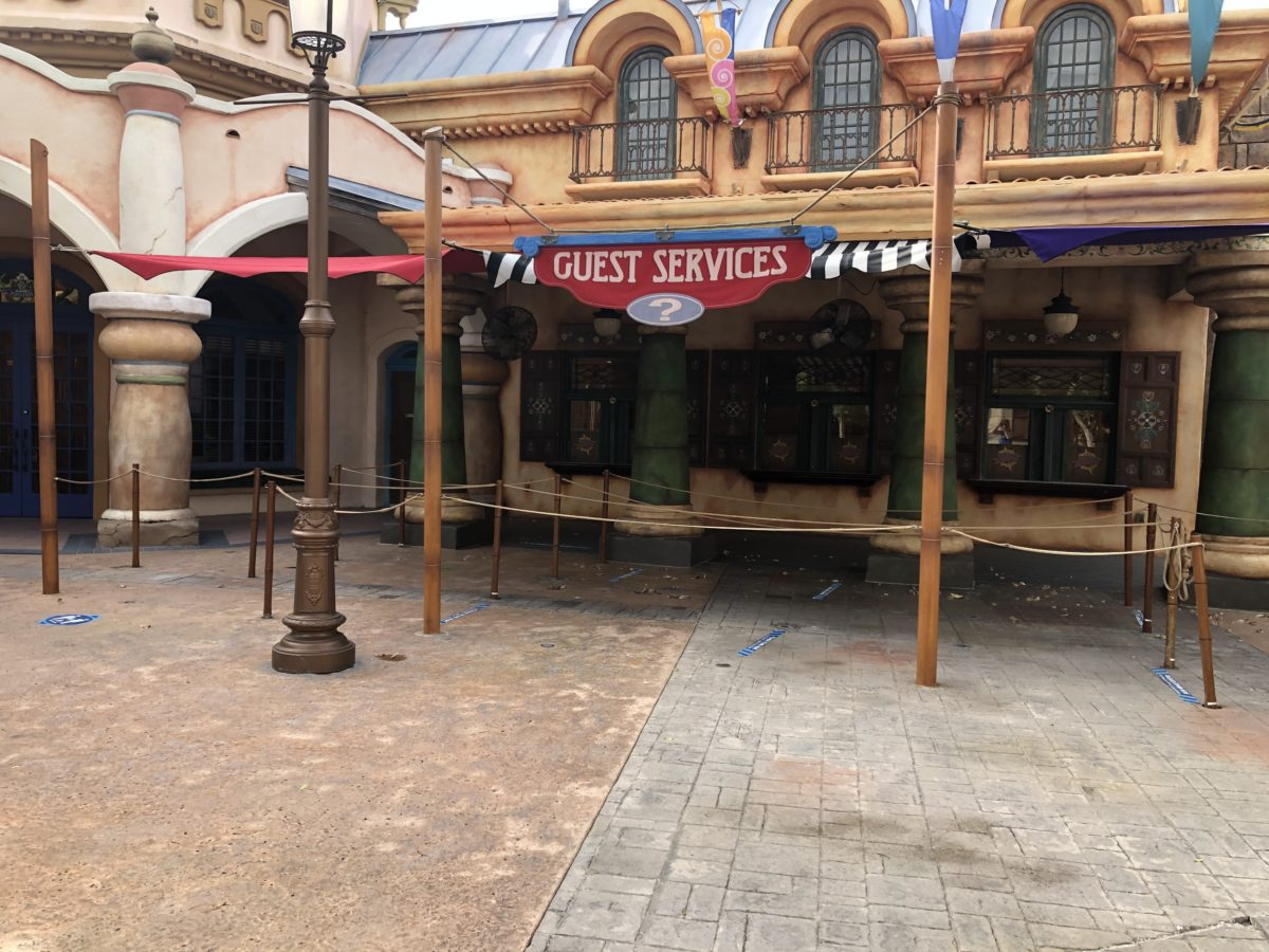 Guest Services Islands of Adventure with Social Distancing Markers