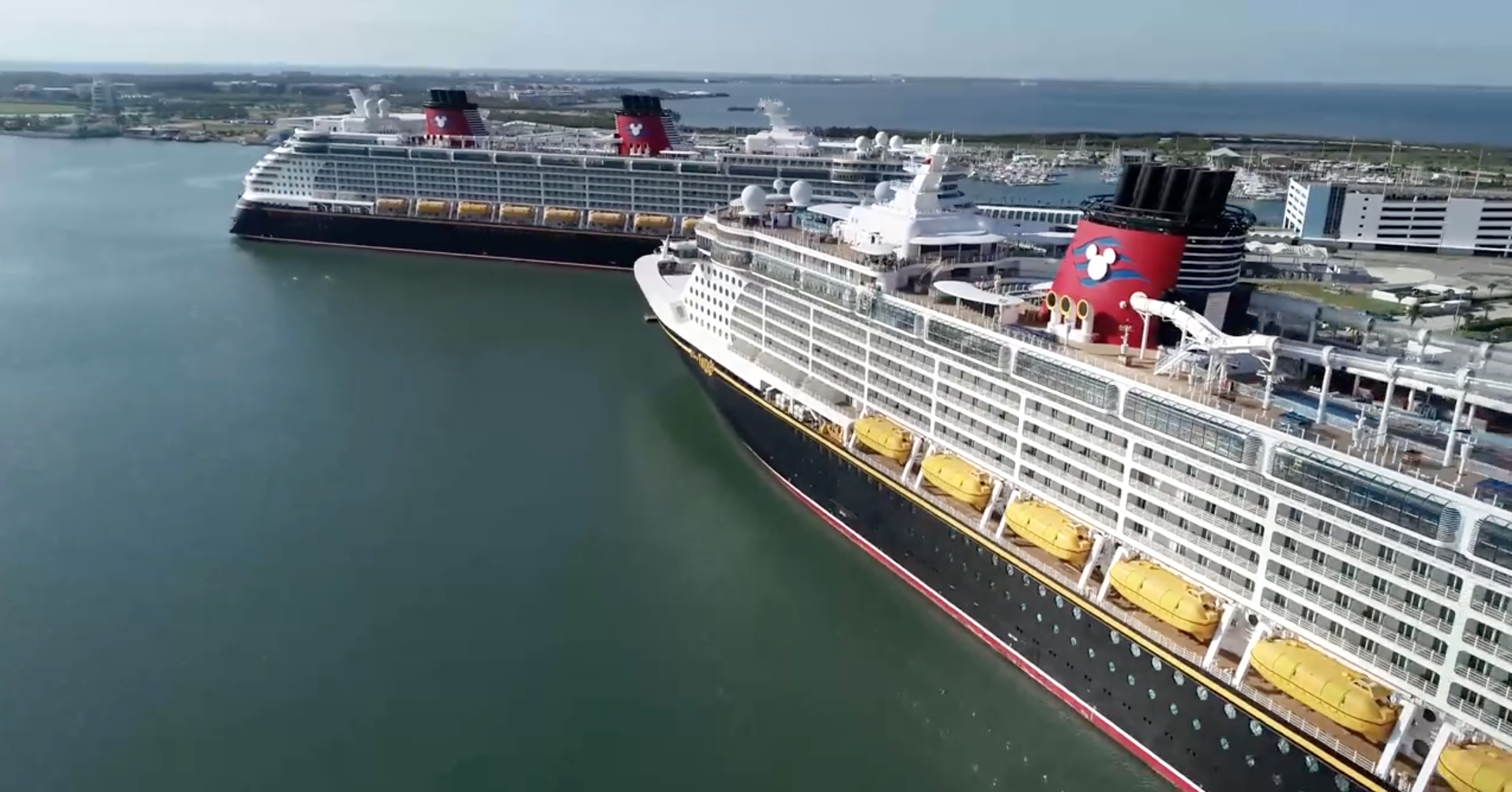 Photos Video Nearly Entire Disney Cruise Line Fleet Docked At Port Canaveral During Covid 19 Travel Shutdown Wdw News Today