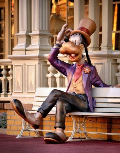 Goofy Bench on Main Street USA