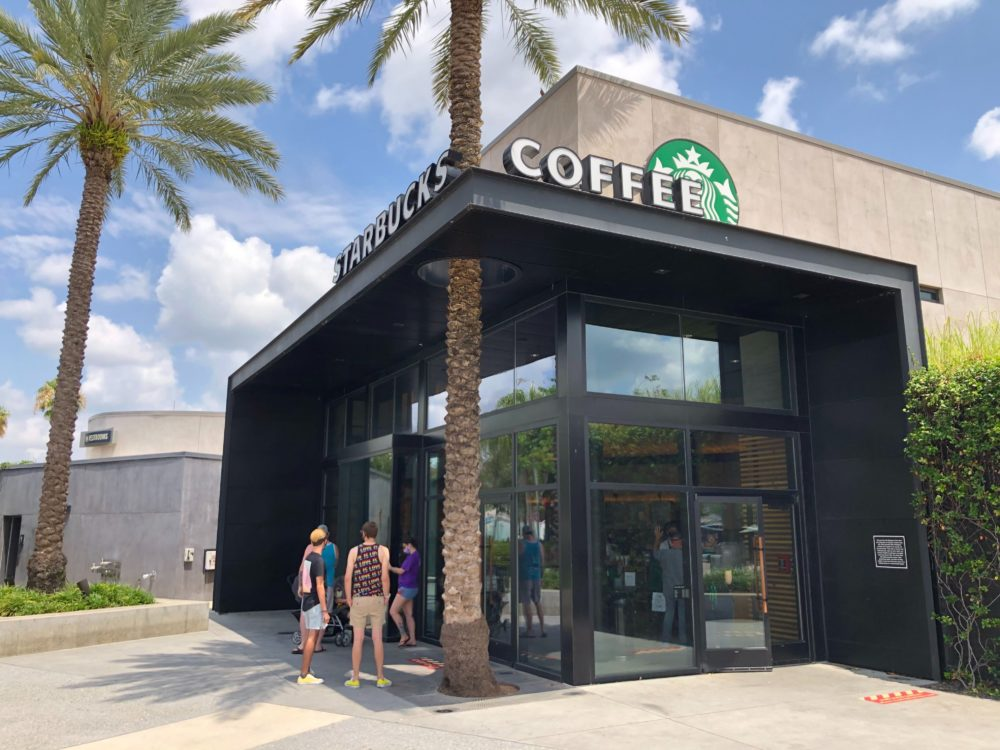 Starbucks at West Side at Disney Springs Reopens with New Social Distance Procedures