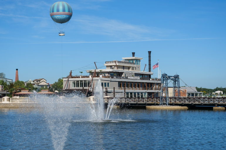Paddlefish and Aerophile Balloon at Disney Springs
