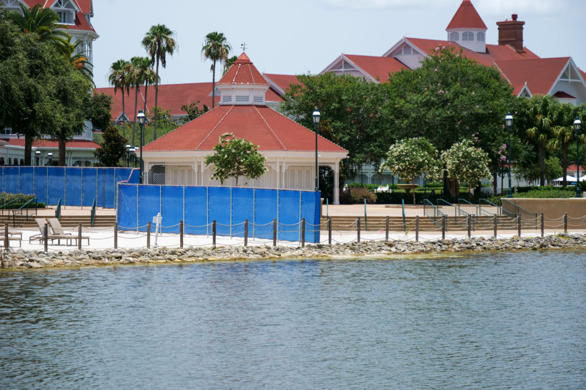 Grand Floridian Resort & Spa with Fences Separating NBA Players