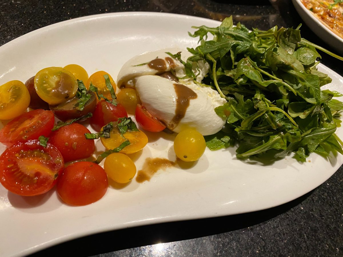 Burrata and Local Heirloom Tomatoes Appetizer The Kitchen Hard Rock Hotel