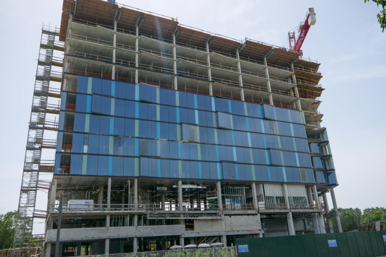 Construction on The Cove Hotel