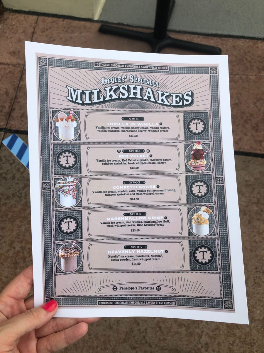 milkshake menu toothsome chcolate emporium and savory feast kitchen citywalk universal orlando