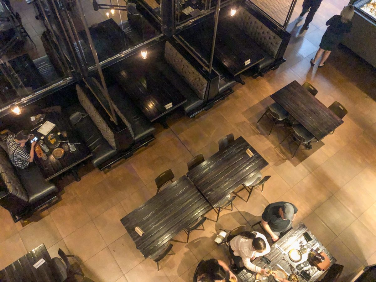 Seating inside Toothsome Chocolate Emporium and Savory Feast Kitchen Restaurant