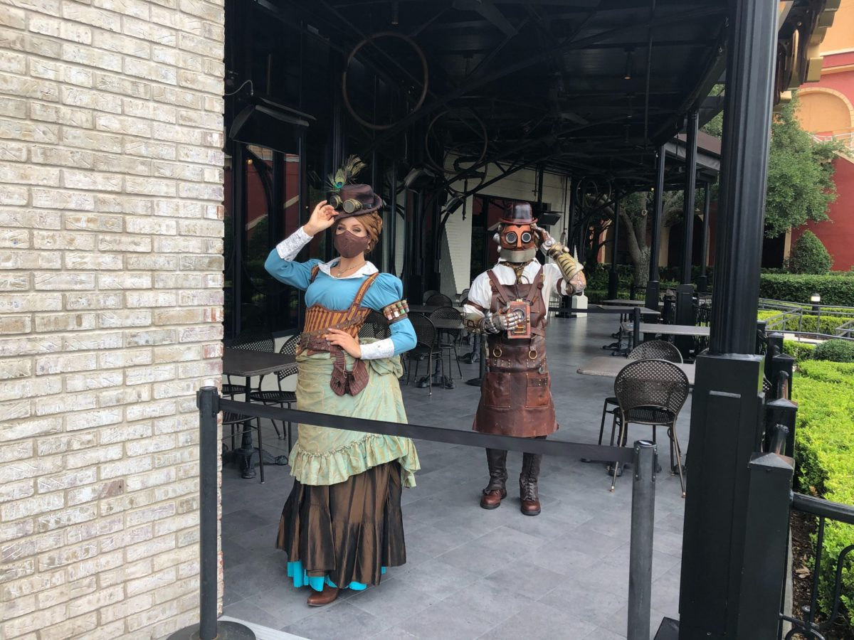Penelope and Jacques Social Distance Character Meet and Greet Toothsome Chocolate Emporium and Savory Feast Kitchen CityWalk