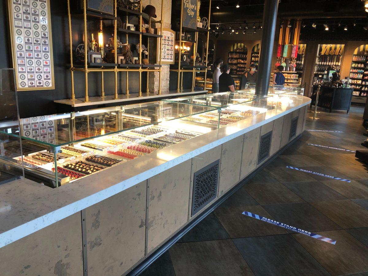 Toothsome Chocolate Emporium CityWalk Macaron and Truffles Display Case