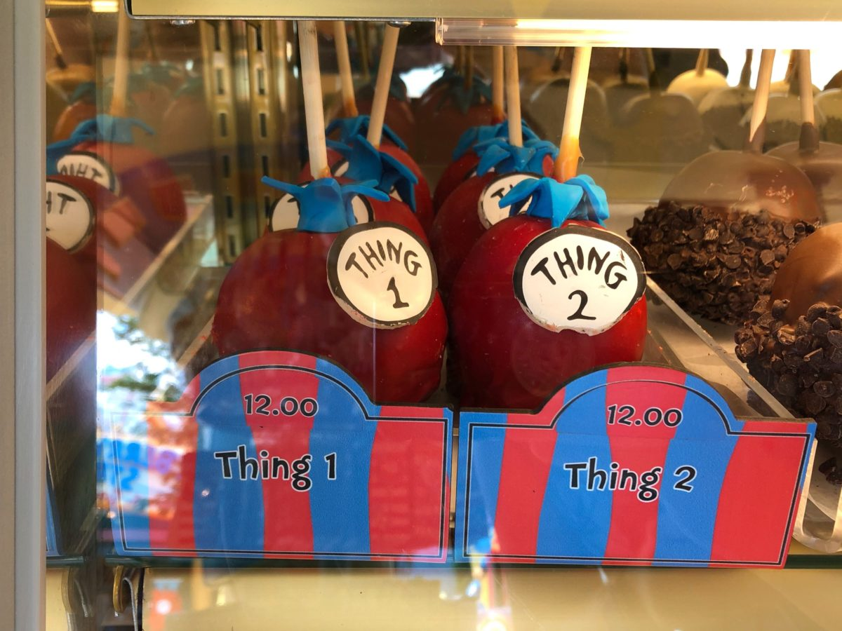 Thing 1 and Thing 2 apples