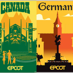 epcot world showcase pavilion serigraph posters