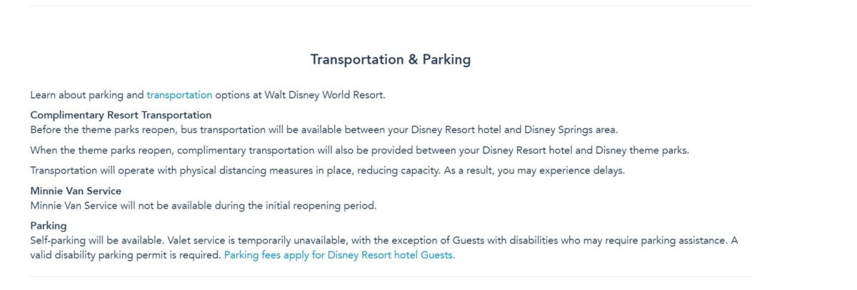 Walt Disney World Resort transportation policy