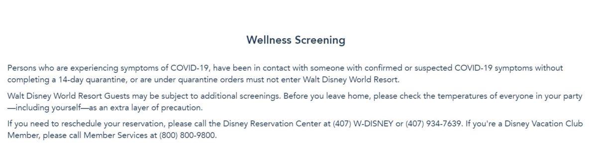 covid-19 theme park wellness screening