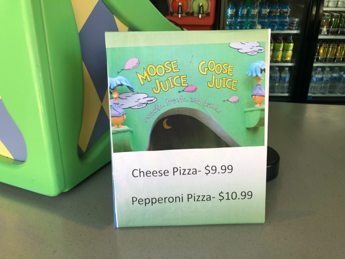 Pepperoni and Cheese Pizza Sign from Moose Juice Goose Juice