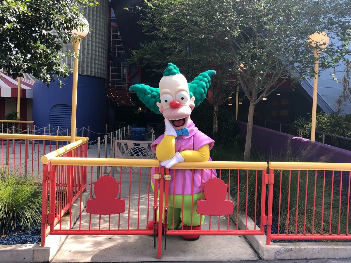 Krusty the clown character meet and greet
