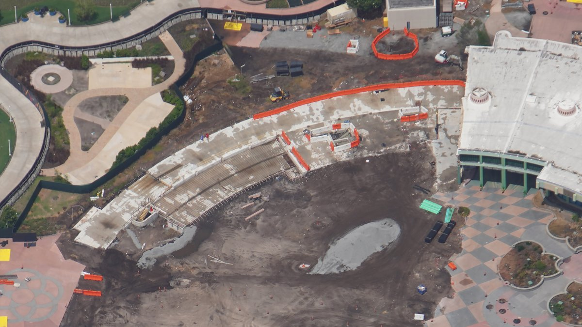 EPCOT construction Future World aerial view July_4