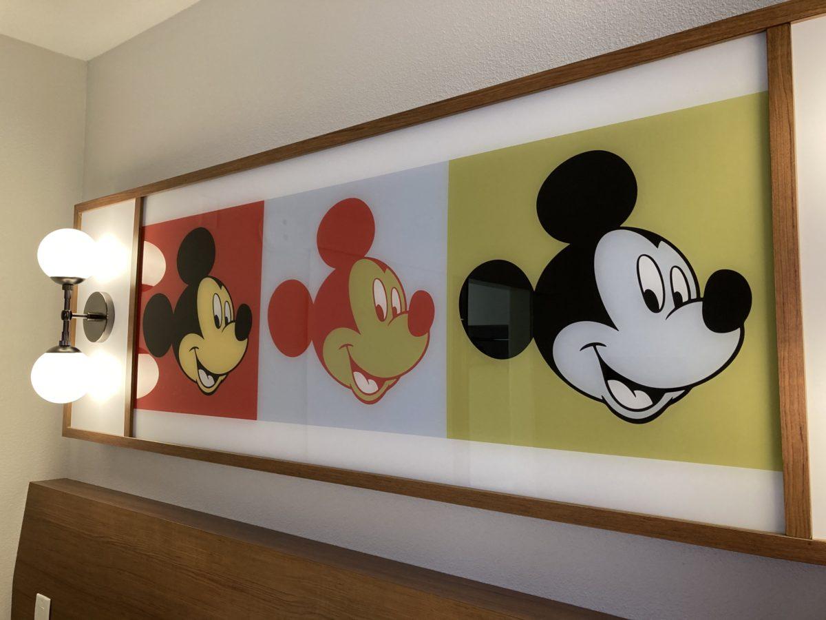 pop century resort room mickey mouse art