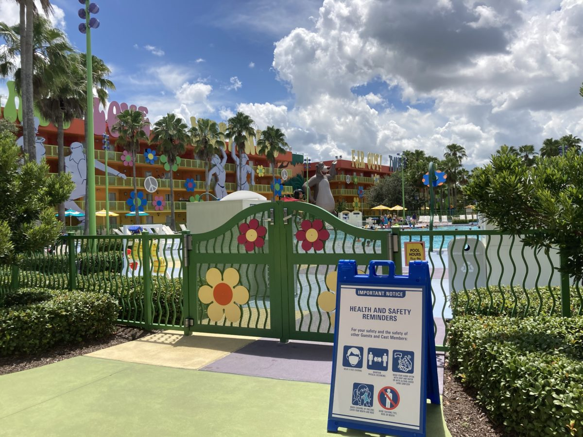 pop century resort petals pool gate