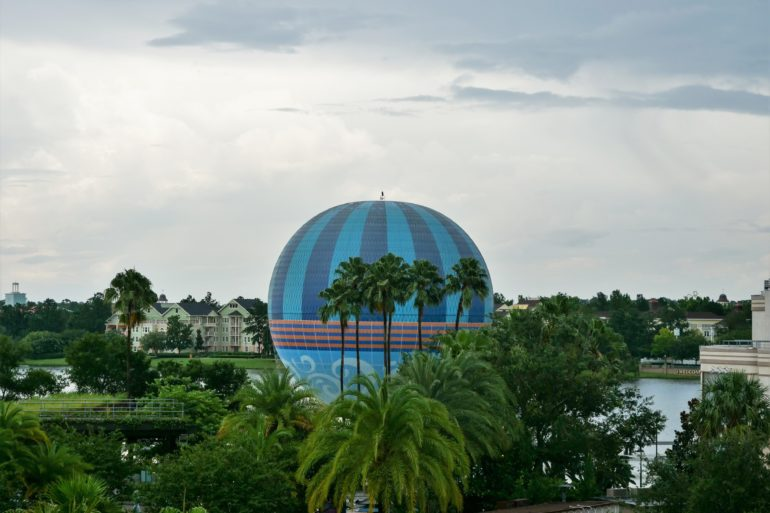 Aerophile Balloon at Disney Springs on a Rainy Day