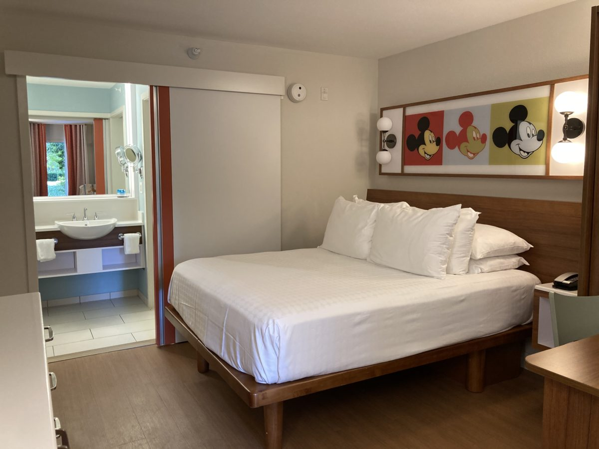 pop century resort room bed