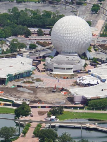 EPCOT construction aerial view Future World July_3