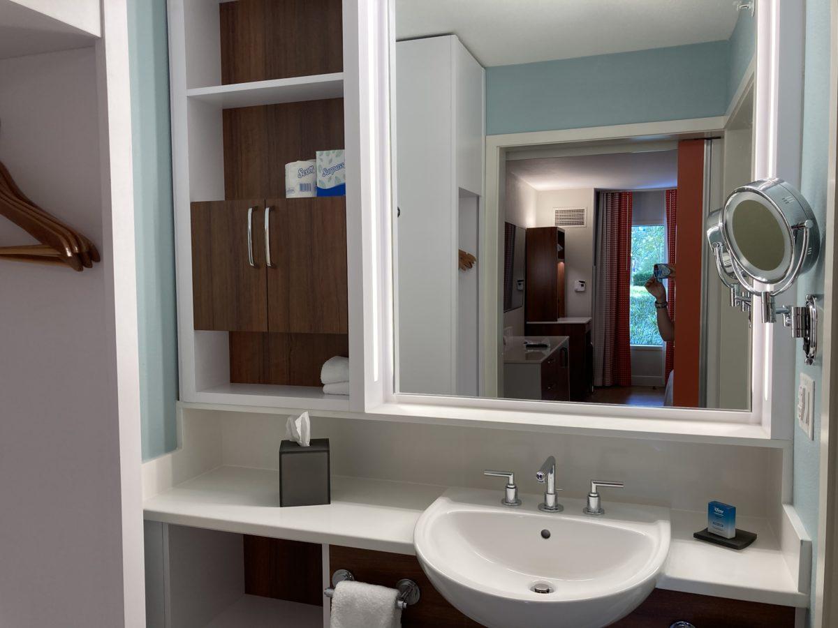 pop century resort room bathroom sink