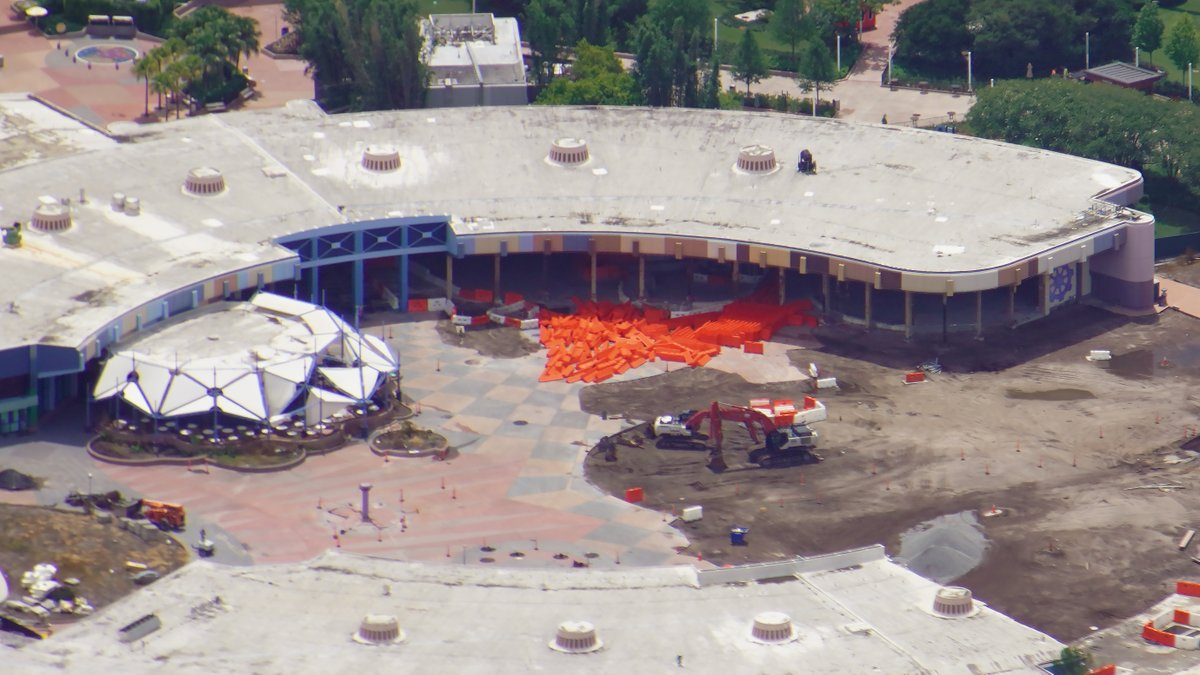 EPCOT construction Future World aerial view July 1