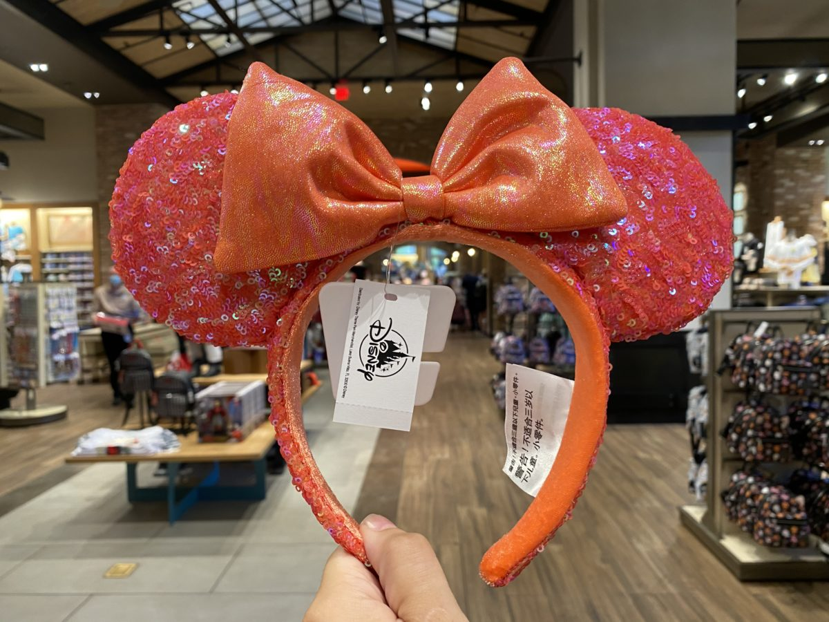 Coral Minnie Mouse Ears Disney Downtown