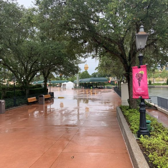 EPCOT International Gateway Temperate Check Tents