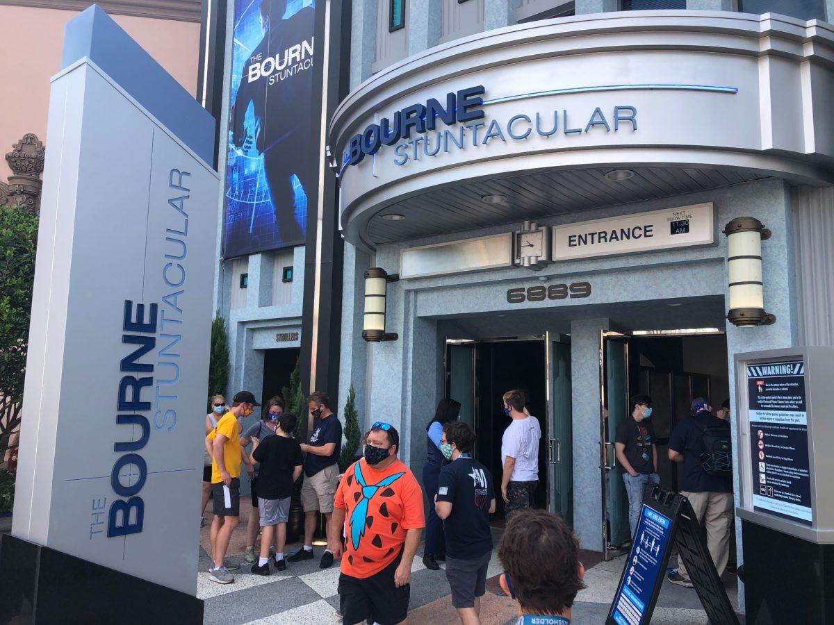 Bourne Stuntacular Queue Entrance